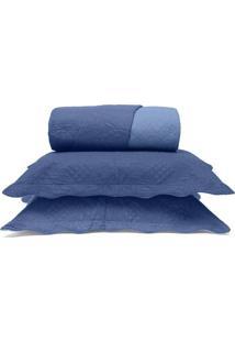 Conjunto De Colcha Metrã³Pole Casal- Azul- 3Pã§S- Buettner