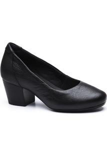 Scarpin Couro Doctor Shoes 278 Feminino - Feminino-Preto