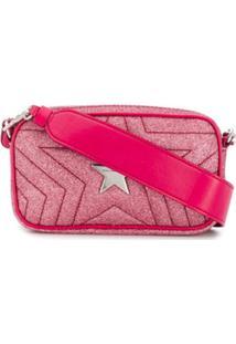 Stella Mccartney Pochete Com Glitter 'Star' - Rosa