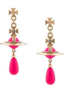 Vivienne Westwood Par De Brincos Neon - Rosa