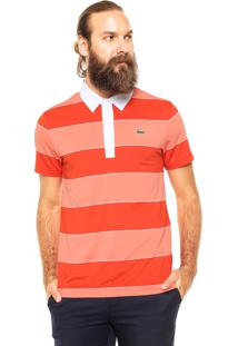 Camisa Polo Lacoste Comfort Coral