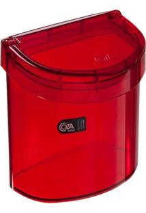 Lixeira Retrô Coza Para Pia De Cozinha Com Tampa 2,7 Litros Vermelho