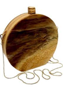 Bolsa Clutch Redonda Wood - Tricae