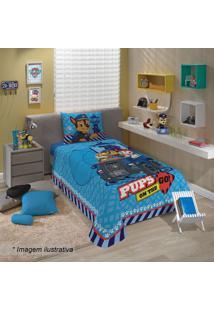 Jogo De Cama Patrulha Caninaâ® Solteiro- Azul & Azul Esculepper