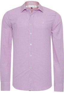 Camisa Masculina Vichy - Rosa