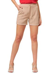 Shorts Mx Fashion Listrado Viscose Gerson Caqui - Kanui
