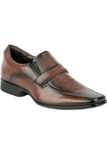 Sapato Social Quadrado Liso Mogno - Rafarillo - Masculino
