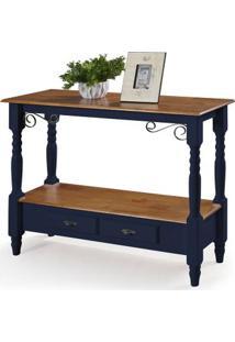 Aparador Elegance Azul Petroleo Tampo Imbuia 2 Gavetas Pes Torneados 116Cm - 59859 - Sun House