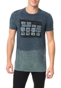 Camiseta Calvin Klein Jeans Estampa Placas Surtom Marinho - P