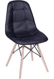 Cadeira Eames Botonãª- Preta & Bege Claro- 83X39X44Cmor Design