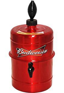 Chopeira Portátil 5,1L A Gelo / Mantém Gelado Até 4Hrs - Vermelha Budweiser