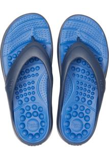 Chinelo Crocs Reviva Flip Azul