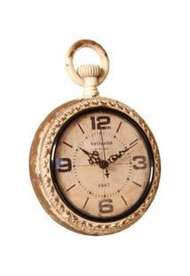 Relógio De Parede Decorativo Louvre De Metal Envelhecido - Unissex