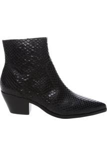 ea66d627f4 ... Ankle Boot Couro Skin West Preta
