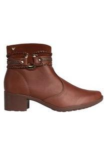 Bota Feminina Ankle Boot Mississipi Murgon Marrom Claro