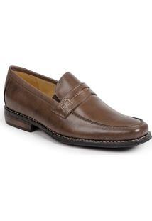 Sapato Social Masculino Loafer Sandro Moscoloni Griesman Latego Marrom