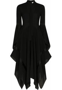 Jw Anderson Vestido Assimétrico - Black