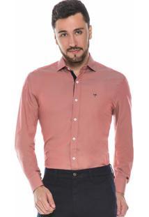 Camisa Hugo Rossi Slim Fit Salmão