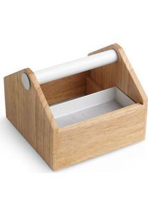 Caixa Organizadora Toto Mini Madeira Branco Umbra