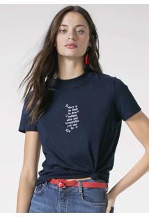 T-Shirt Em Malha De Algodão Com Bordado