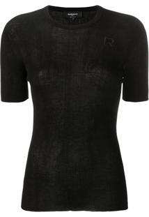 Rochas Blusa De Tricô Com Logo - Preto