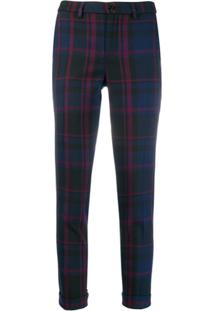 Liu Jo Check Trousers - Azul