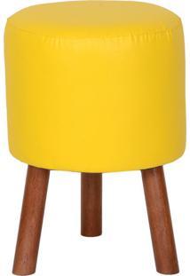Puff Round Amarelo
