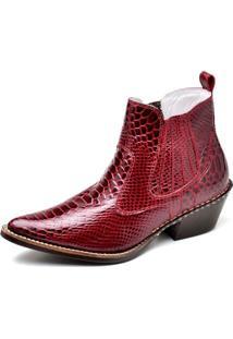 Bota Country Masculina Bico Fino Top Franca Shoes Rubi
