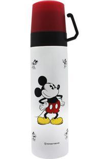 Garrafa Térmica Com 2 Xícaras 500 Ml Mickey Xadrez
