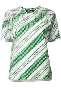 Y/Project Blusa Com Listra Diagonal - Verde