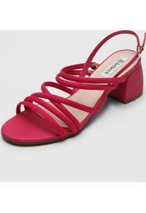 Sandã¡Lia Bebec㪠Tiras Pink - Pink - Feminino - Tãªxtil - Dafiti