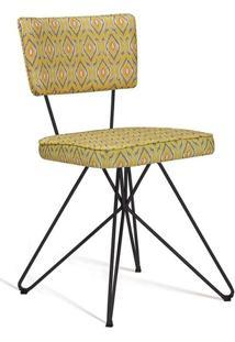 Cadeira Butterfly Retro Preto E Amarelo