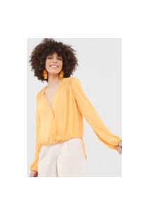 Blusa Bobstore Transpassada Amarela