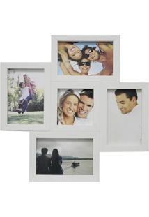 Painel Multifotos Para 5 Fotos 37X37Cm Branco