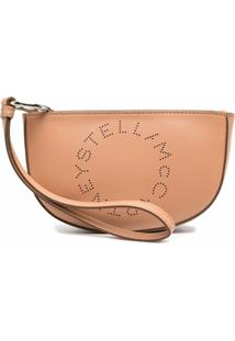 Stella Mccartney Clutch Com Logo - Marrom
