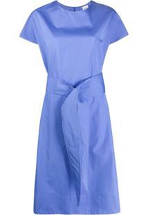 Aspesi Tie Waist Mid-Length Dress - Azul