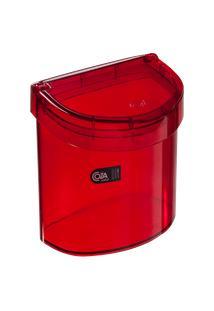 Lixeira Para Pia Glass 20,3 X 14,6 X 21,3 Cm 2,7 L Vermelho Transparente Coza