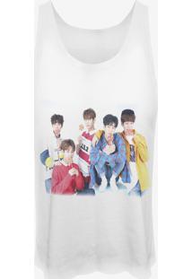 Camiseta Cropped Nerderia Kpop Imfact Coreanos Branca