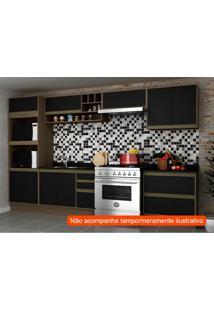 Cozinha Compacta Safira I 9 Pt 5 Gv Preta E Avelã