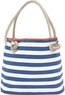 Bolsa Dafiti Accessories Shopper Listras E Corda Azul