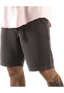 Bermuda Moletom Masculina - Masculino-Cinza
