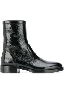 Givenchy Patent Leather Ankle Boots - Preto