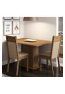 Conjunto Sala De Jantar Madesa Gabi Mesa Tampo De Madeira Com 2 Cadeiras