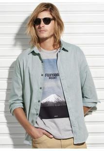 Camisa Slim Masculina Em Algodão Hering