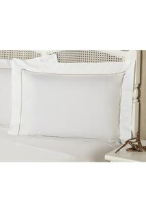 Fronha Percal 230 Fios 50X150Cm Premium Caress Branca Plumasul