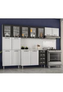 Cozinha Compacta Premium 13 Pt 4 Gv Branca E Preta