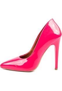 Scarpin Factor Salto Alto - Chiclete Rosa - Rosa - Feminino - Dafiti