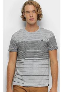 Camiseta All Free Listrada Masculina - Masculino-Mescla
