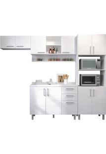 Cozinha Compacta Com 5 Peças Floripa 25-Politorno - Branco