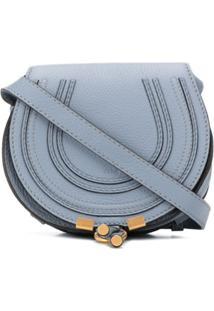 Chloé Bolsa Transversal Marcie Mini - Azul